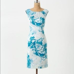 ANTHRO MAEVE Marbled Waters Shift Dress Size 2